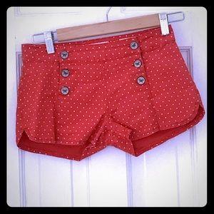 Bullhead Denim Co. Women's Orange White Shorts